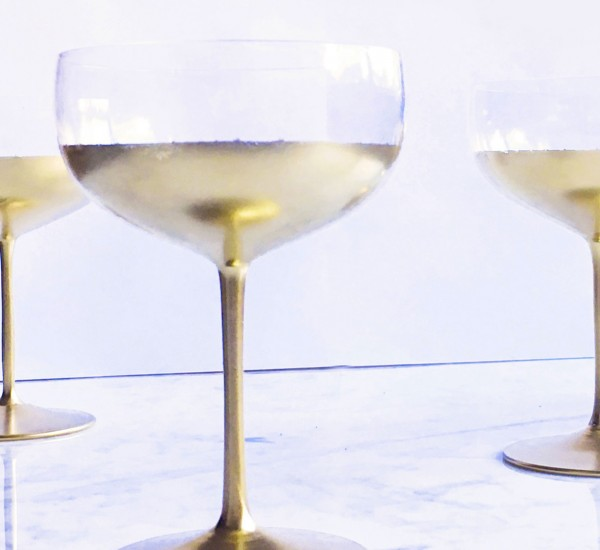 DIY coupe de champagne or