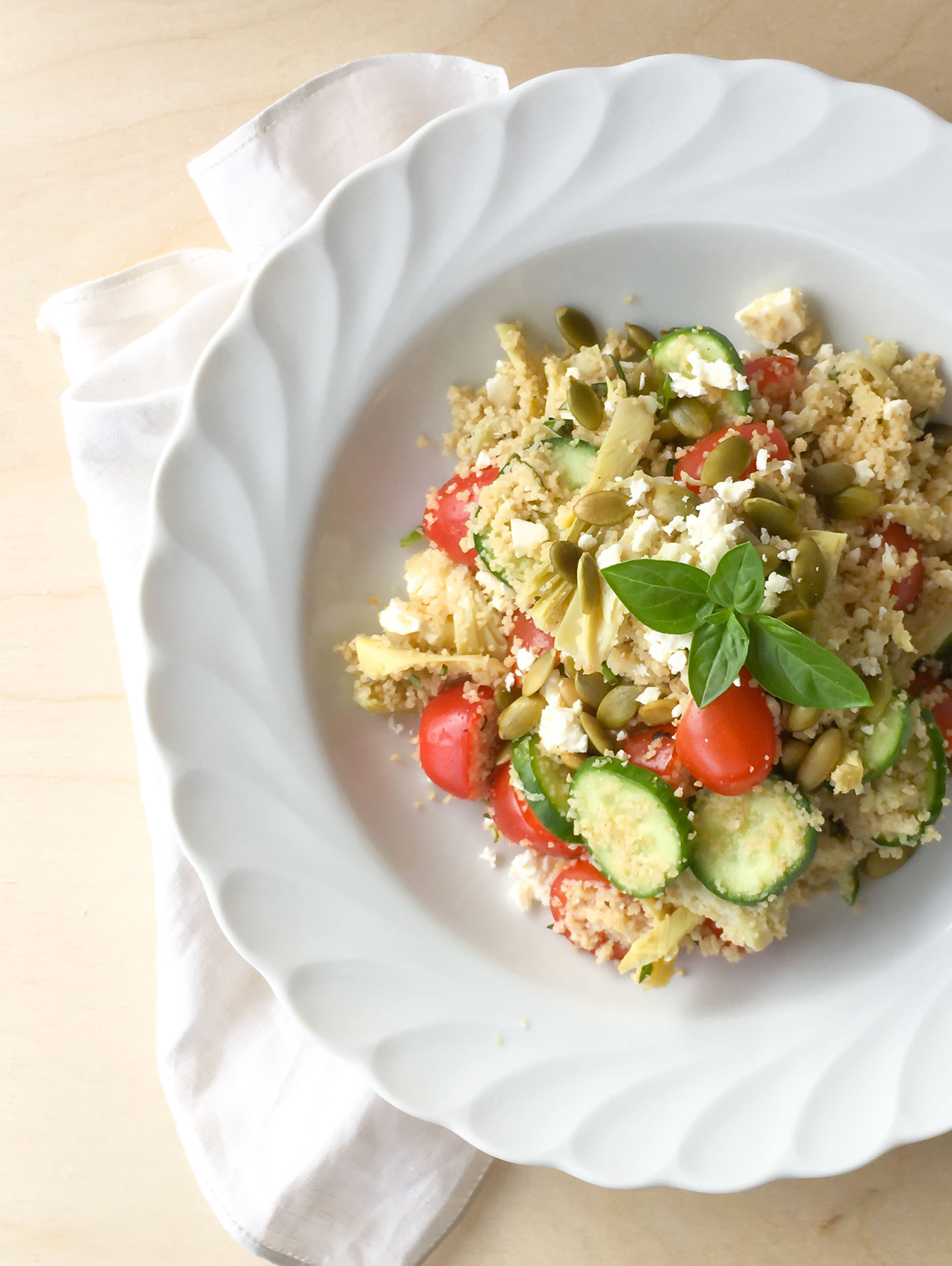 Salade de couscous minute | Sparks and Bloom